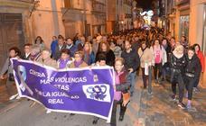 400 personas participan en una marcha en Lorca en repulsa por la muerte de Laura Luelmo