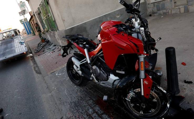 Herido un motorista en un choque en la carretera de Alicante