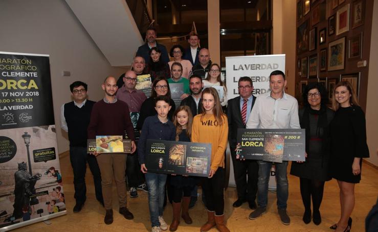 Premios del segundo Maratón fotográfico de Lorca