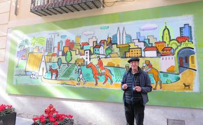 El Museo Ramón Gaya luce en su fachada el colorido belén de Esteban Linares
