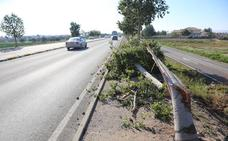 Un coche colisiona contra un árbol en la salida a la autovía en Lorca