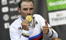 Valverde lucirá el maillot arcoíris en la Vuelta a Murcia