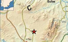 Un terremoto de 2,3 grados de magnitud vuelve a sacudir Bullas