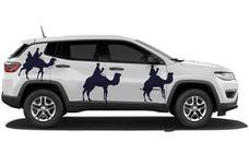 Jeep se vuelca con la llegada de los Reyes Magos a Murcia y Cartagena