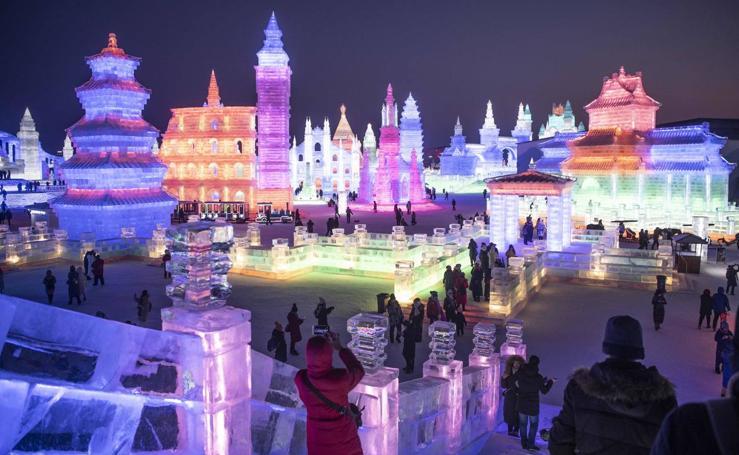 Harbin celebra su Festival de Hielo y Nieve