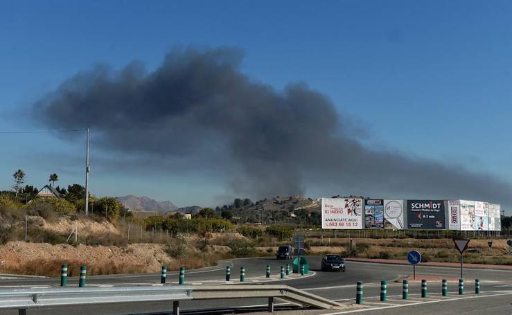 Incendio en las instalaciones de un vivero ubicado en Murcia