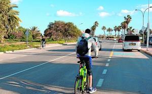 La avenida del Castellar de Mazarrón contará con un nuevo carril para los peatones y las bicis