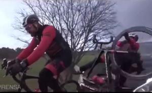 El vídeo del brutal atropello que sufrió Dani Rovira durante el rodaje de 'Todos los caminos' en Francia