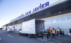 San Javier echa el cierre con tres últimos vuelos a Londres, Mánchester y Bruselas