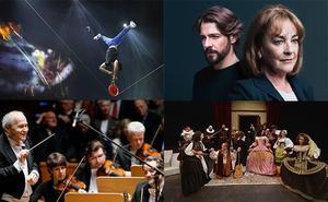 Acrobacias, teatro y música internacional para disfrutar del fin de semana en la Región