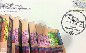La fachada de Química en un sello de Correos