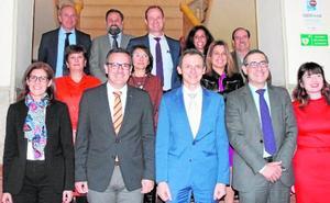 El ministro de Ciencia, Innovación y Universidades, Pedro Duque, hace una visita al Rectorado