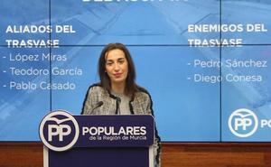 El PP señala que Sánchez y Conesa son los «dos grandes enemigos» del trasvase