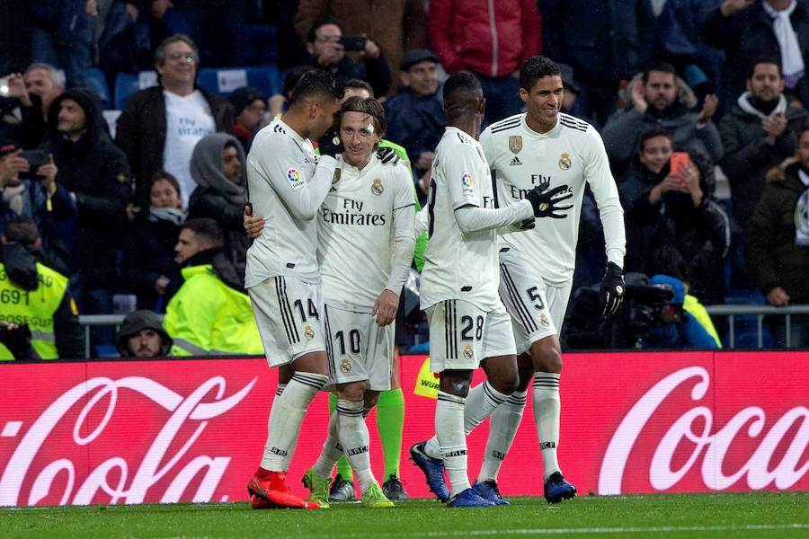 El derechazo de Casemiro que puso en pie a todo el Bernabéu