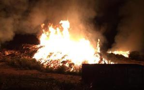 Arde una planta de compostaje en Mazarrón