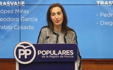 Nuria Fuentes: «Es un descaro que Pedro Sánchez venga a la Región y no mencione los trasvases y el Mar Menor»