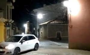 Caen las primeras nieves del año en la Región de Murcia