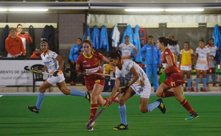 España gana a la India en el primer partido