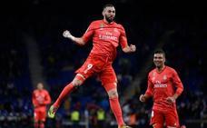 El Madrid golea en Cornellá con un doblete de Benzema