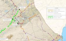 Fomento saca a información pública un tramo del Arco Norte de Murcia
