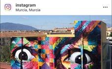 Casi medio millón de 'me gusta' en Instagram al mural de Kobra en Murcia