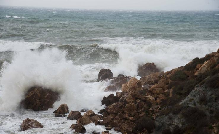 El temporal azota Cartagena y San Javier