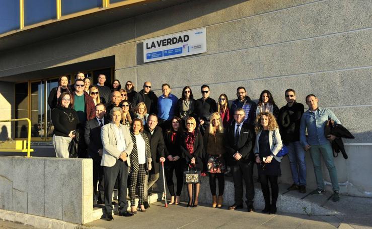 Visita de profesores a 'La Verdad' de cara al concurso 'Mi Periódico Digital'