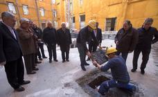 Primera piedra del anexo a la Basílica de la Caridad