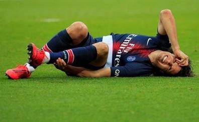 La lesión de Cavani deja en cuadro el ataque del PSG contra el Manchester United