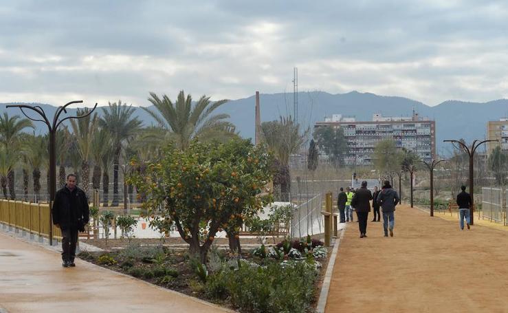 Abre el Jardín de la Alameda, el nuevo pulmón verde de Murcia
