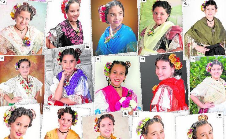 Candidatas infantiles a Reina de la Huerta 2019