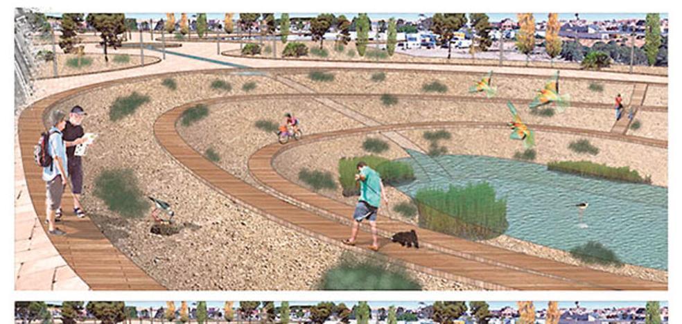 El parque del Plan Rambla tendrá un lago y un sistema eficiente de riego y electricidad