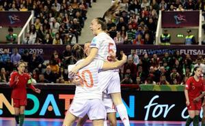 Tres jugadoras de la Región de Murcia, campeonas de Europa de fútbol sala