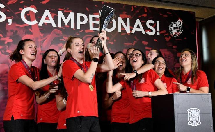 La fiesta de las campeonas de Europa de fútbol sala