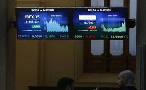 El Ibex-35 defiende los 9.100 puntos de la recogida de beneficios