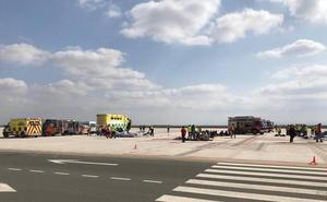 El aeropuerto de la Región simula un accidente aéreo para evaluar su plan de autoprotección