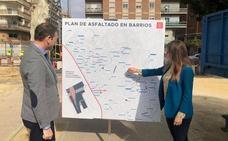 Destinan 681.000 euros a asfaltar y mejorar 70 calles de los barrios de Murcia