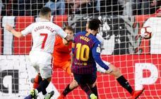 Messi, la bestia negra del Sevilla