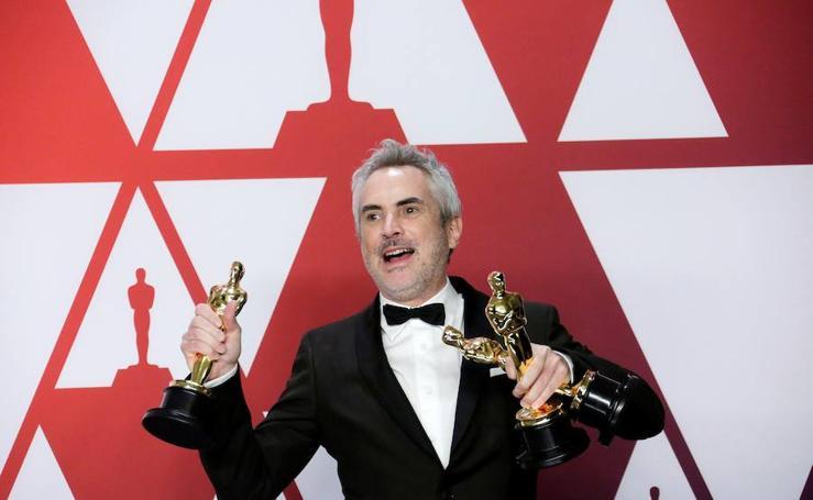 La alegría de los premiados de los Oscar en imágenes