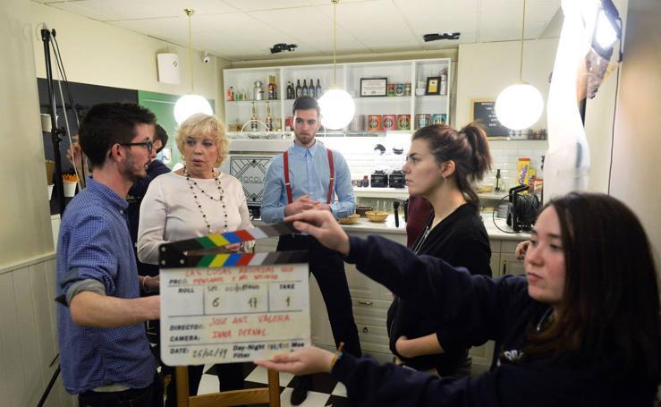 Bárbara Rey participa en el rodaje del quinto corto de José Antonio Valera