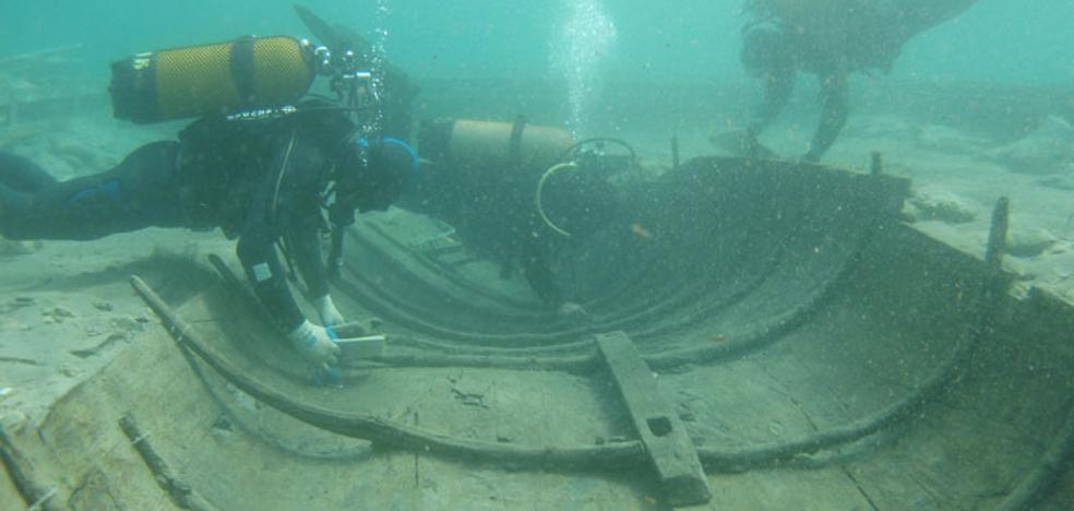Los técnicos descartan la existencia de más barcos fenicios en La Isla de Mazarrón