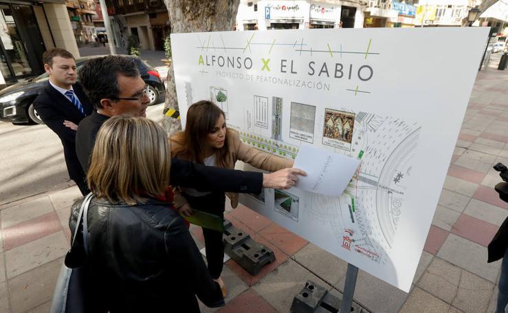 El Ayuntamiento de Murcia lleva a noviembre el final de la peatonalización de Alfonso X