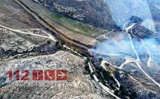 El fuego calcina una hectárea de terreno forestal en las proximidades del Cenajo