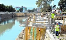 Las obras del paseo fluvial 'Murcia Río' estarán terminadas antes del verano