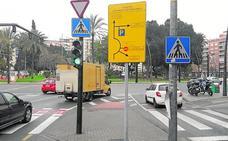Señalizan desde la plaza Circular el corte de tráfico en un lateral de Alfonso X