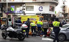 Un atropello en el centro de Murcia deja 3 heridas y un importante atasco