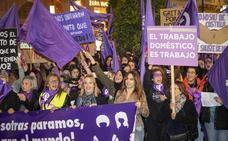 La «lucha feminista» se hace con la calle en Cartagena