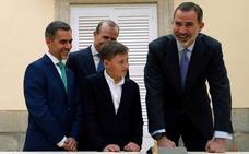 Felipe VI recibe al ganador murciano de '¿Qué es un rey para ti?'