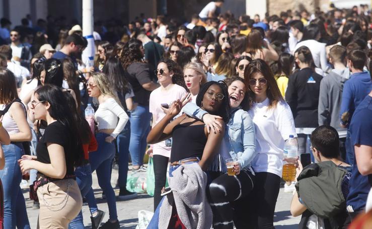 Seis mil alumnos de la UPCT llenan la Muralla en la fiesta de las paellas