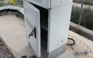 Investigan al presunto autor de varios robos en estaciones de telecomunicaciones